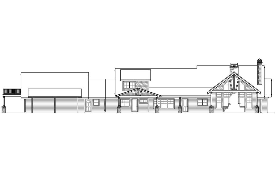 108-1789: Home Plan Rear Elevation
