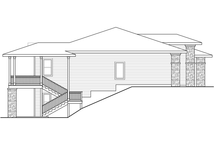 Home Plan Left Elevation of this 3-Bedroom,2579 Sq Ft Plan -108-1790