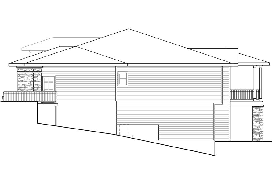 Home Plan Right Elevation of this 3-Bedroom,2579 Sq Ft Plan -108-1790