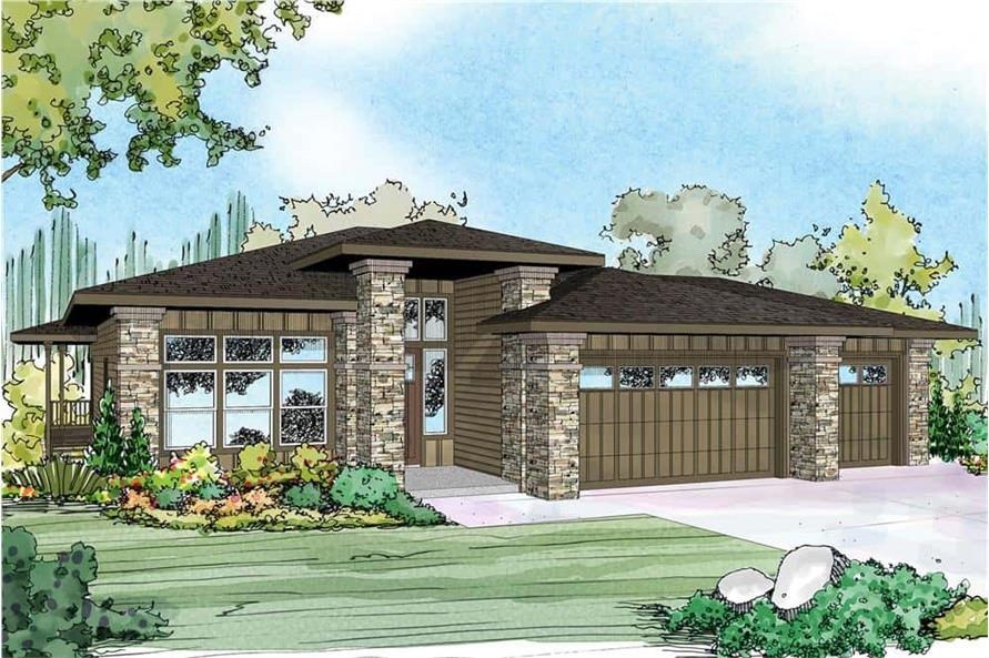 Front View of this 3-Bedroom,2579 Sq Ft Plan -108-1790