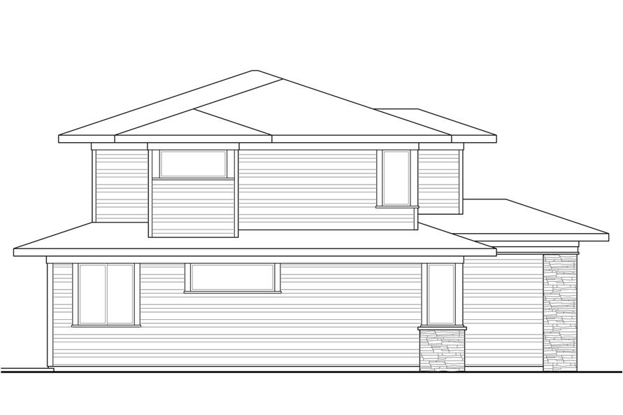 Home Plan Left Elevation of this 4-Bedroom,3109 Sq Ft Plan -108-1791