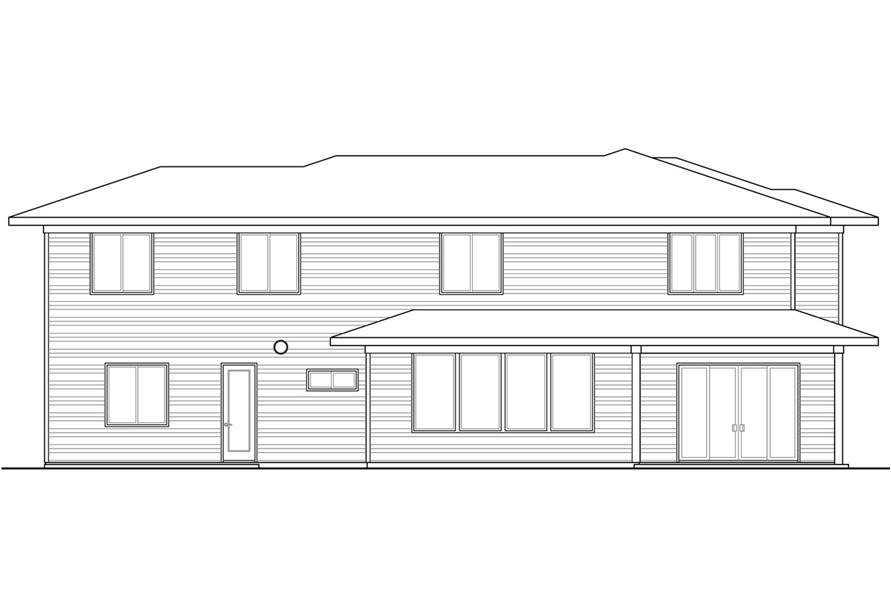 108-1791: Home Plan Rear Elevation