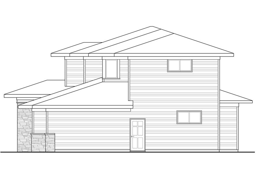 Home Plan Right Elevation of this 4-Bedroom,3109 Sq Ft Plan -108-1791
