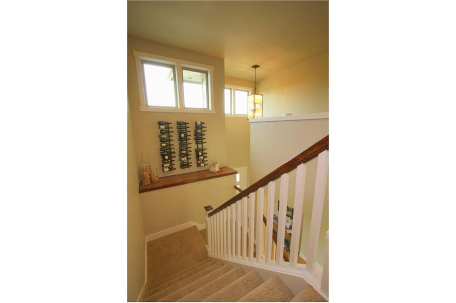 108-1791: Home Interior Photograph-Entry Hall: Staircase