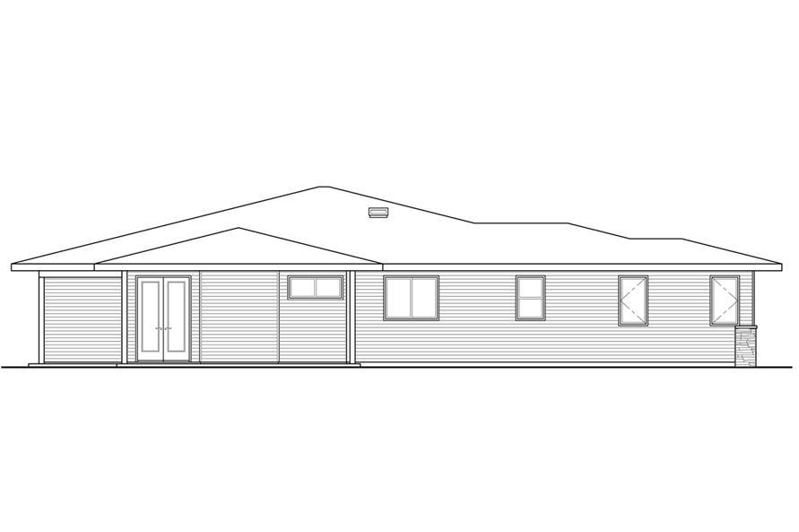 108-1792: Home Plan Left Elevation