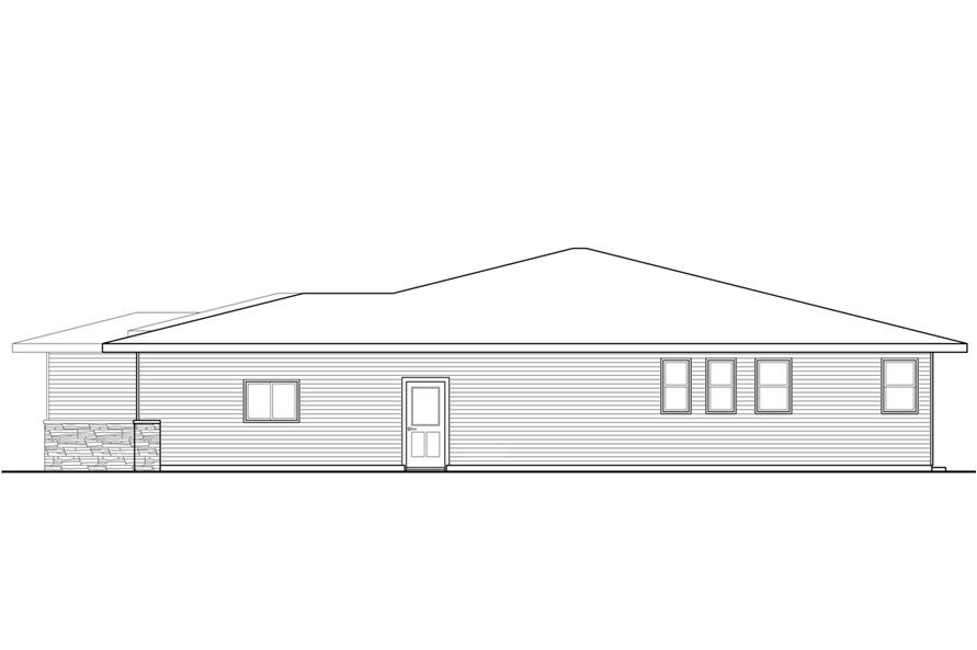 108-1792: Home Plan Right Elevation