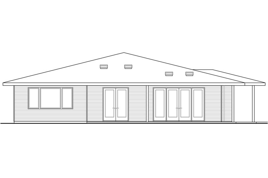 108-1792: Home Plan Rear Elevation