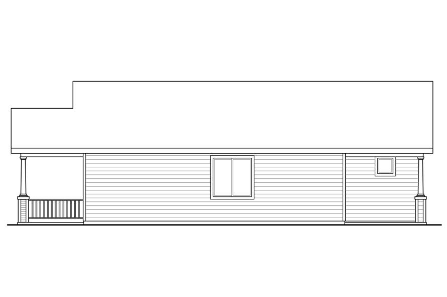 108-1793: Home Plan Right Elevation