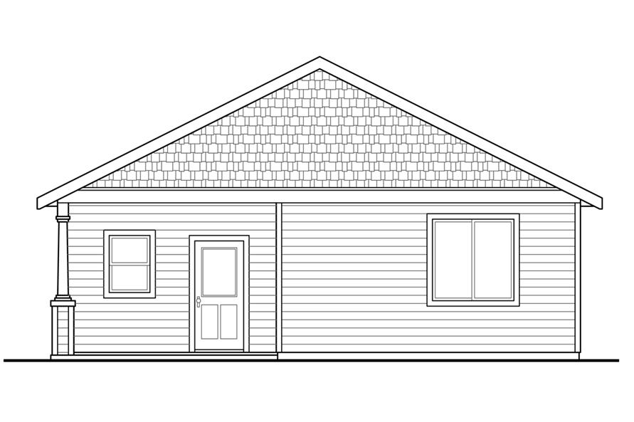 108-1793: Home Plan Rear Elevation
