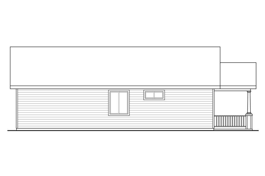 108-1793: Home Plan Left Elevation