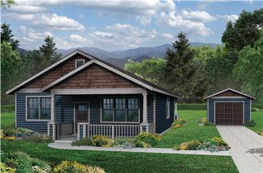 3-Bedroom, 1275 Sq Ft Cottage Home Plan - 108-1793 - Main Exterior