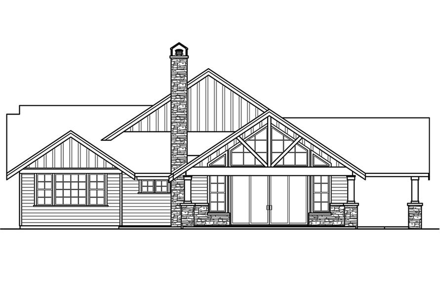 Home Plan Left Elevation of this 3-Bedroom,2518 Sq Ft Plan -108-1794