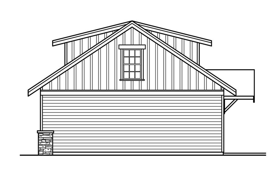 Home Plan Right Elevation of this 3-Bedroom,2518 Sq Ft Plan -108-1794