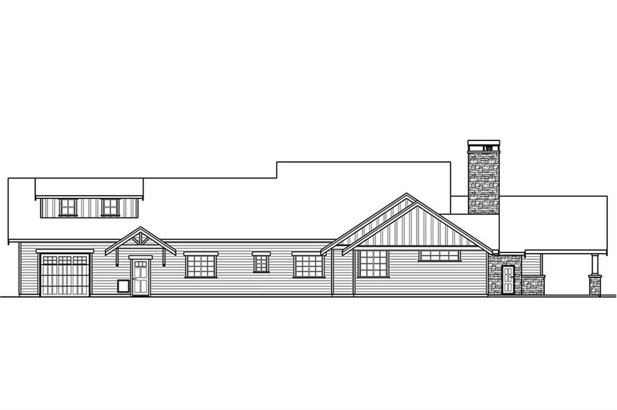Home Plan Rear Elevation of this 3-Bedroom,2518 Sq Ft Plan -108-1794