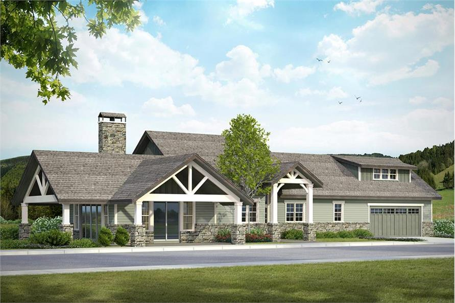 Home Plan Front Elevation of this 3-Bedroom,2518 Sq Ft Plan -108-1794