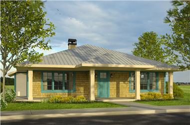 3-Bedroom, 1881 Sq Ft Shingle House Plan - 108-1799 - Front Exterior