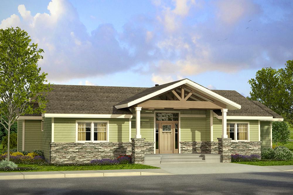 2 bedrm 1712 sq ft prairie house plan 108 1800 for Prairie foursquare house plans