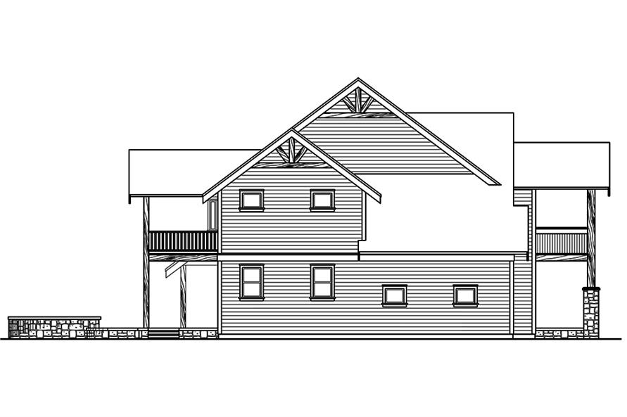 Home Plan Left Elevation of this 3-Bedroom,4007 Sq Ft Plan -108-1801