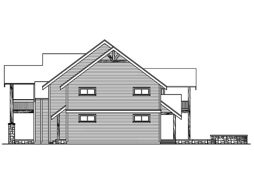 Home Plan Right Elevation of this 3-Bedroom,4007 Sq Ft Plan -108-1801