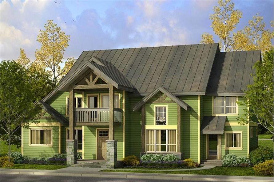 3-Bedroom, 4007 Sq Ft Craftsman House Plan - 108-1801 - Front Exterior