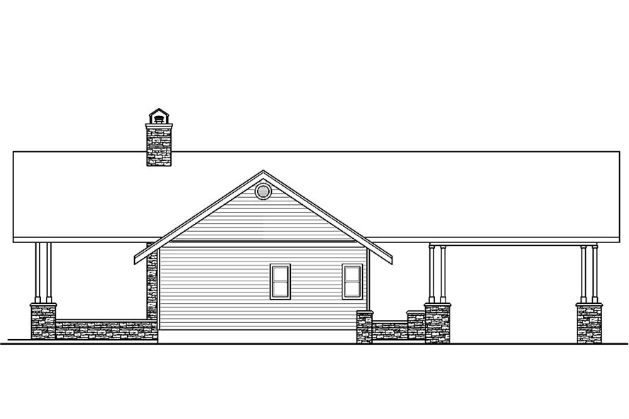 Home Plan Left Elevation of this 2-Bedroom,1545 Sq Ft Plan -108-1807