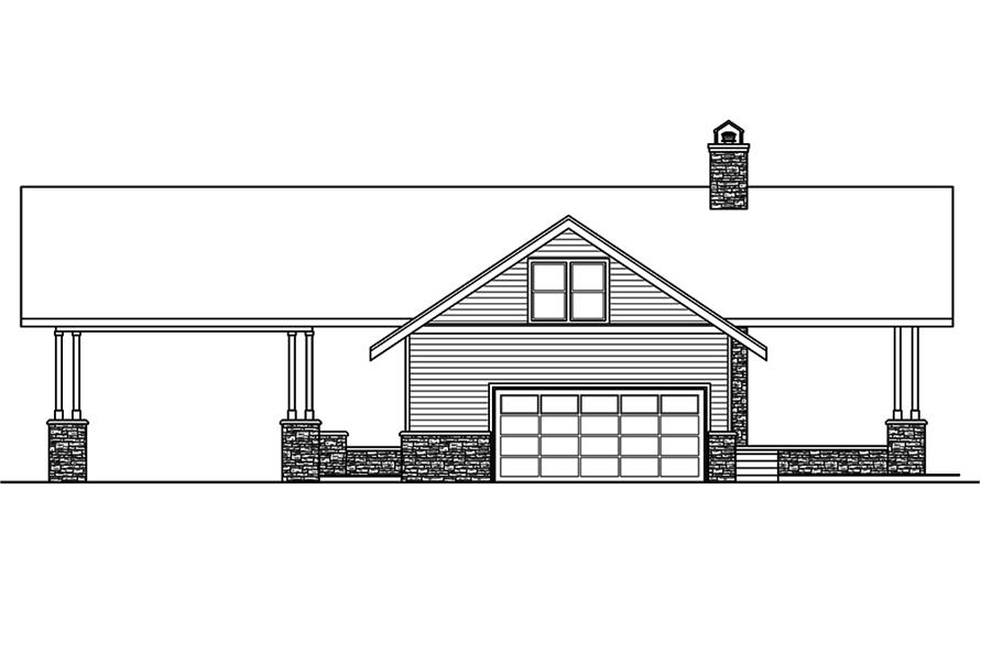 Home Plan Right Elevation of this 2-Bedroom,1545 Sq Ft Plan -108-1807