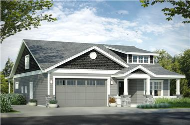 3-Bedroom, 1859 Sq Ft Cottage Home Plan - 108-1812 - Main Exterior