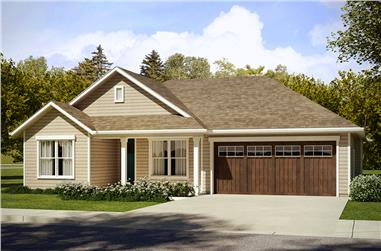 3-Bedroom, 1605 Sq Ft Ranch Home Plan - 108-1816 - Main Exterior