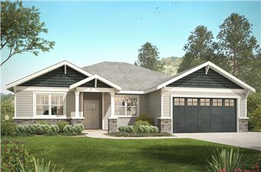 3-Bedroom, 2015 Sq Ft Craftsman Home Plan - 108-1818 - Main Exterior