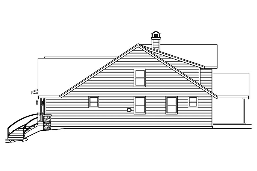 Home Plan Right Elevation of this 2-Bedroom,2595 Sq Ft Plan -108-1825