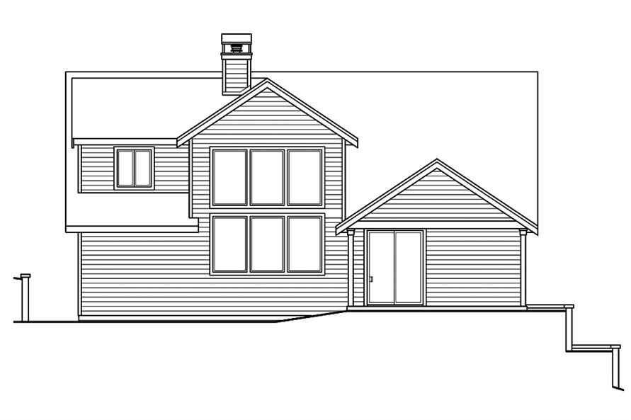 Home Plan Rear Elevation of this 2-Bedroom,2595 Sq Ft Plan -108-1825