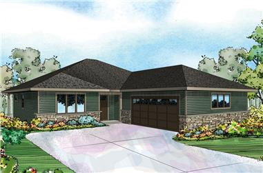 3-Bedroom, 2195 Sq Ft Prairie House Plan - 108-1826 - Front Exterior