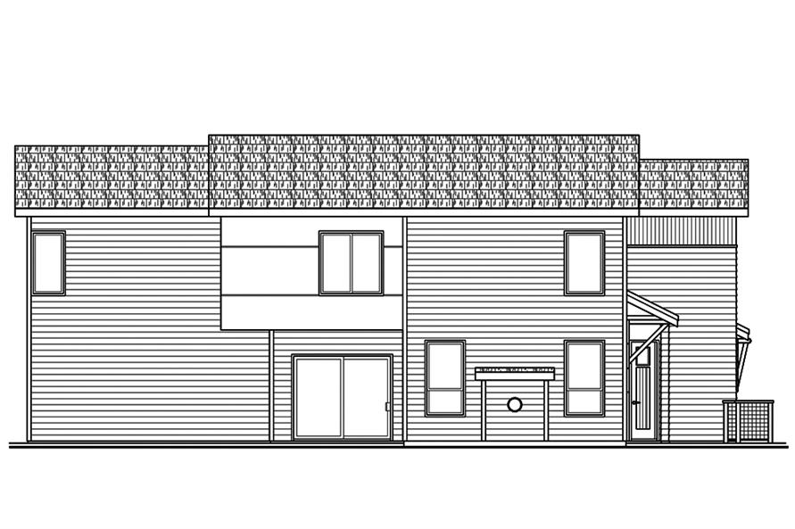 Home Plan Left Elevation of this 3-Bedroom,1869 Sq Ft Plan -108-1827
