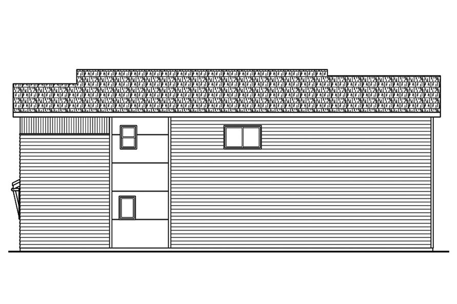 Home Plan Right Elevation of this 3-Bedroom,1869 Sq Ft Plan -108-1827
