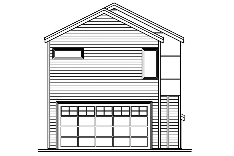 108-1827: Home Plan Rear Elevation