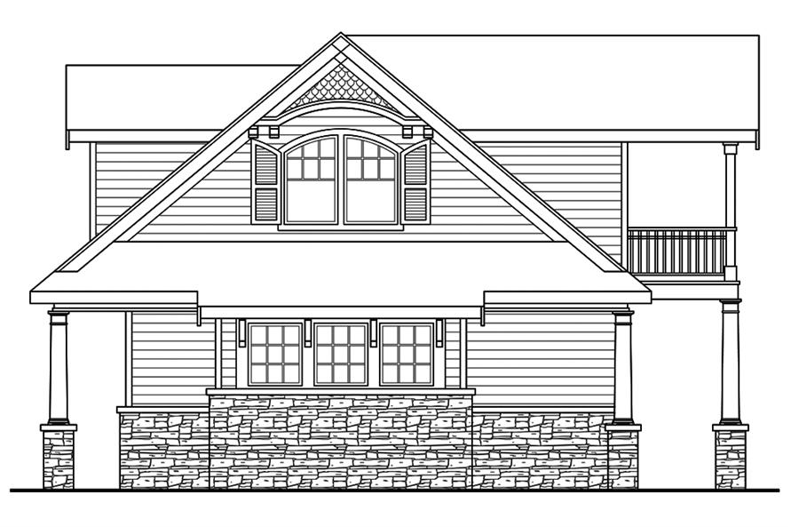 Home Plan Right Elevation of this 3-Bedroom,4568 Sq Ft Plan -108-1831