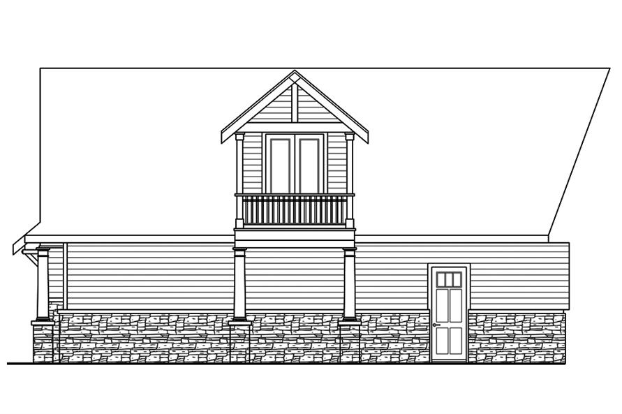 Home Plan Rear Elevation of this 3-Bedroom,4568 Sq Ft Plan -108-1831