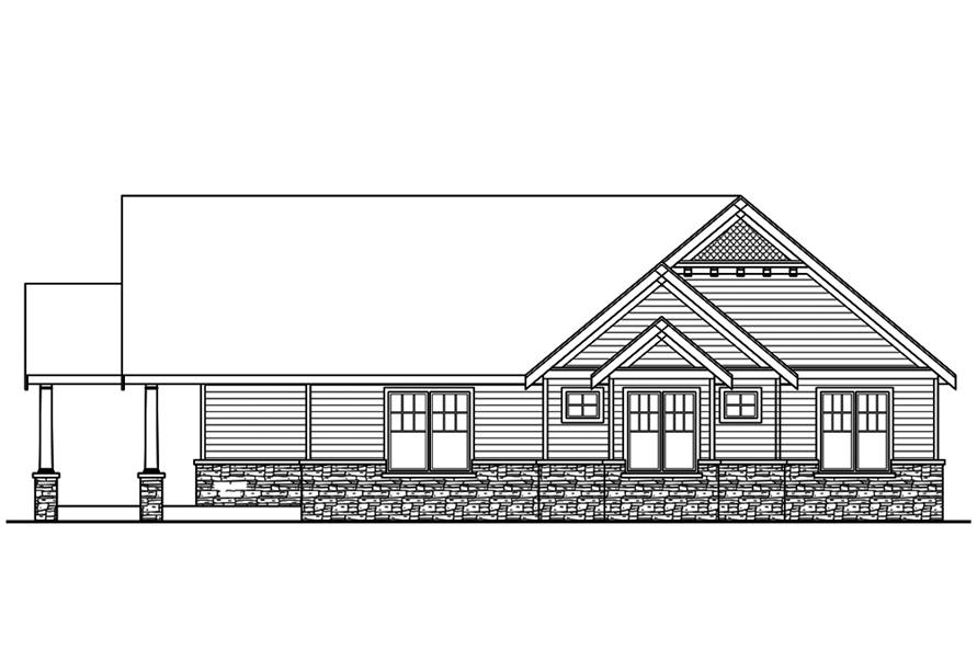 Home Plan Left Elevation of this 3-Bedroom,4568 Sq Ft Plan -108-1831