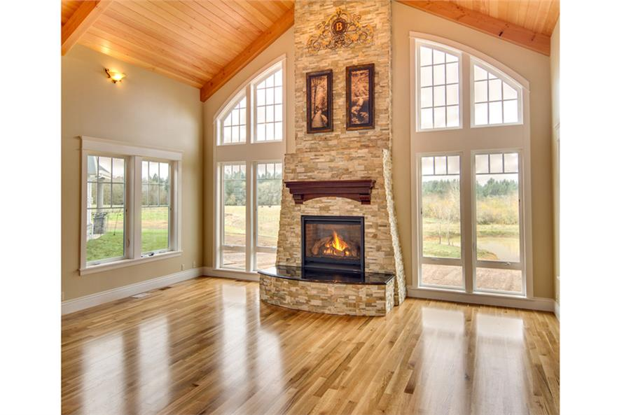 Living Room of this 3-Bedroom,4568 Sq Ft Plan -4568