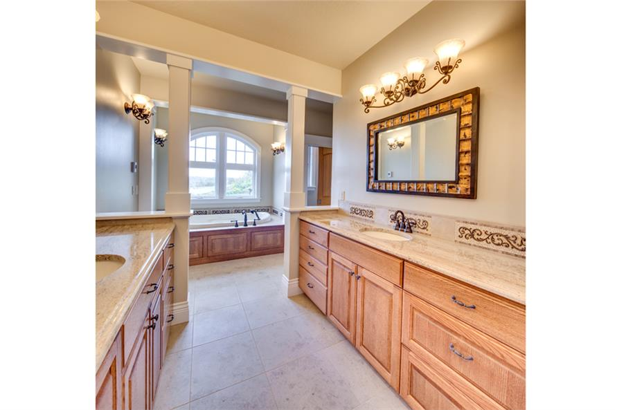 Master Bathroom of this 3-Bedroom,4568 Sq Ft Plan -4568
