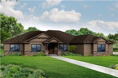 3-Bedroom, 3088 Sq Ft Craftsman House Plan - 108-1834 - Front Exterior