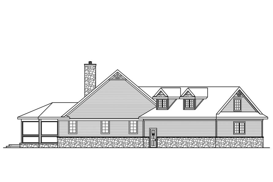 Home Plan Left Elevation of this 3-Bedroom,4211 Sq Ft Plan -108-1843