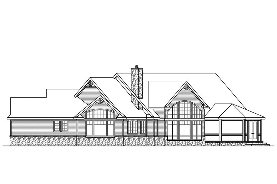 Home Plan Right Elevation of this 3-Bedroom,4211 Sq Ft Plan -108-1843