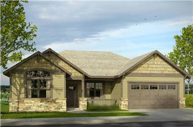 3-Bedroom, 1888 Sq Ft Cottage Home Plan - 108-1844 - Main Exterior