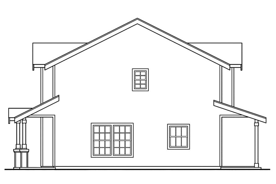 Home Plan Right Elevation of this 2-Bedroom,1071 Sq Ft Plan -108-1845