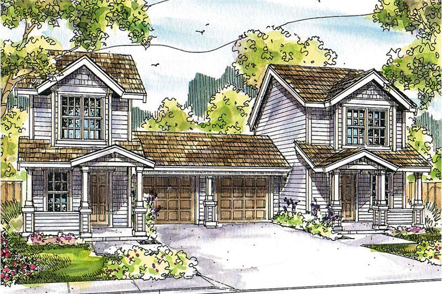 Multi Unit House Plan 108 1845 2 Bedrm 1071 Sq Ft Per
