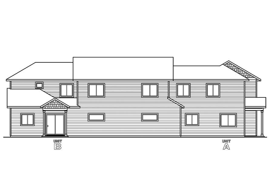 Multi unit house plan 108 1850 3 bedrm 1537 sq ft per for Multi unit house plans