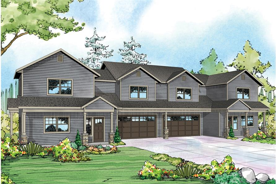 Multi unit house plan 108 1850 3 bedrm 1537 sq ft per for Multi unit home plans