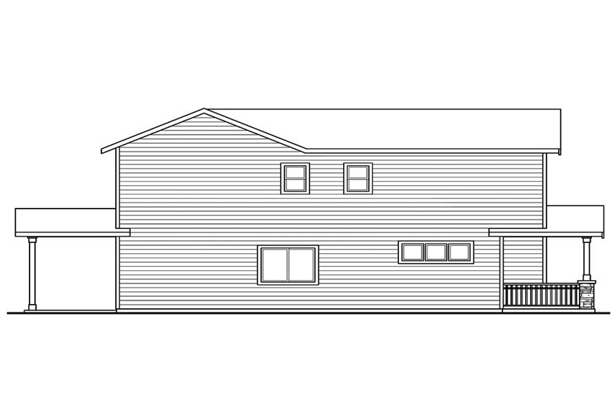 Home Plan Left Elevation of this 3-Bedroom,1529 Sq Ft Plan -108-1851