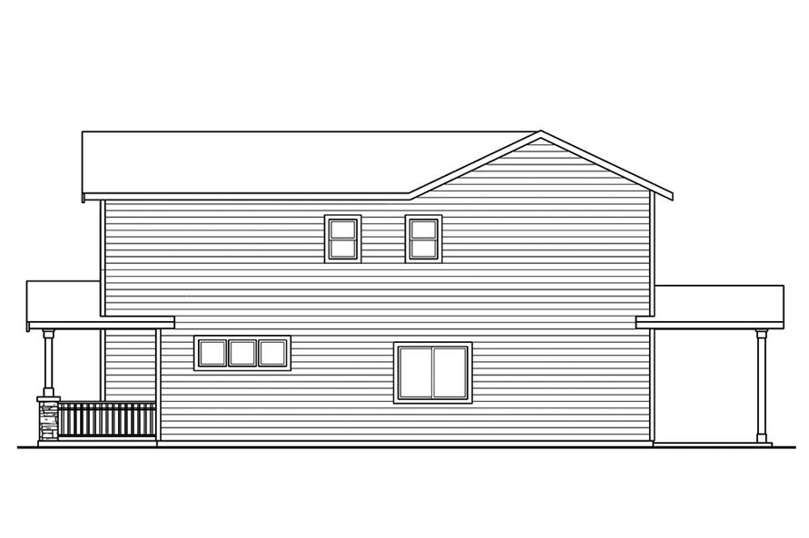 Home Plan Right Elevation of this 3-Bedroom,1529 Sq Ft Plan -108-1851